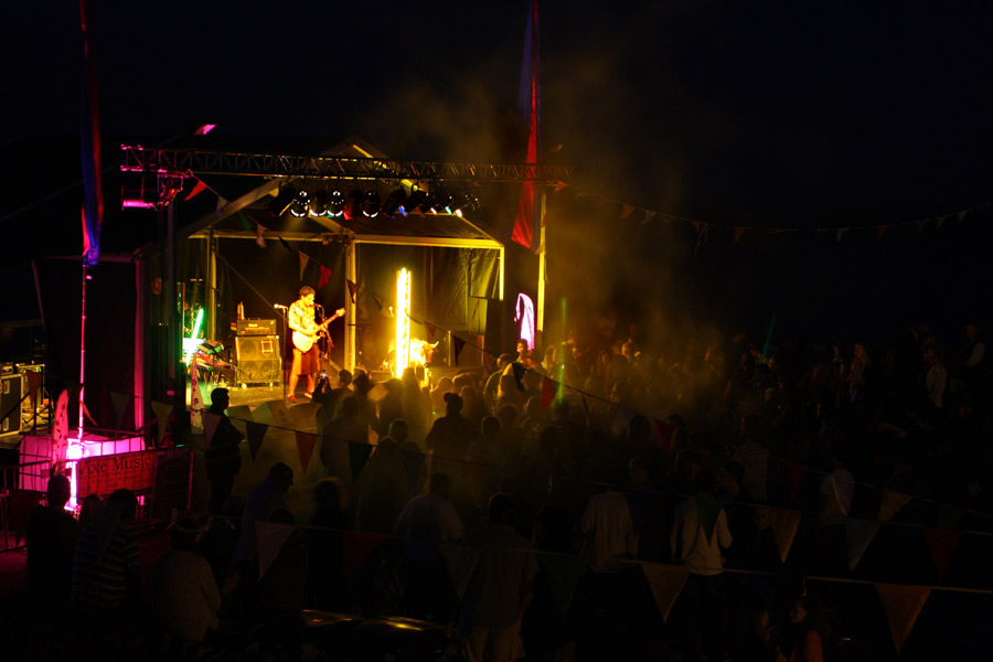 Stage with Yellow Smoke