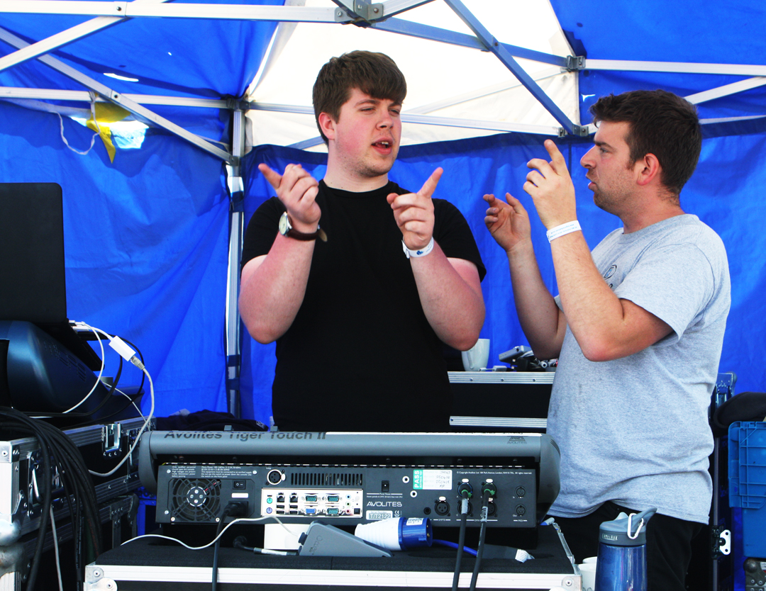 sound and lighting crew Big Mix 2015